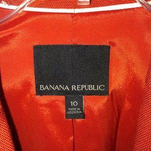 Banana Republic Summer orange blazer